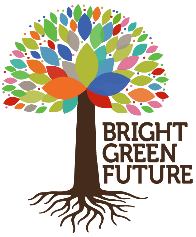 Bright Green Future Grant Logo with colorful tree