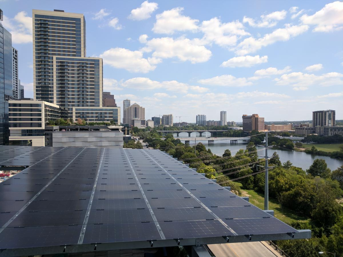 Solar panels on roof of new Central Library
