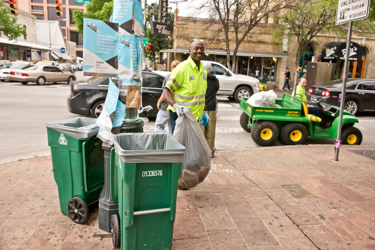 image of Recycle collection on 6th Street