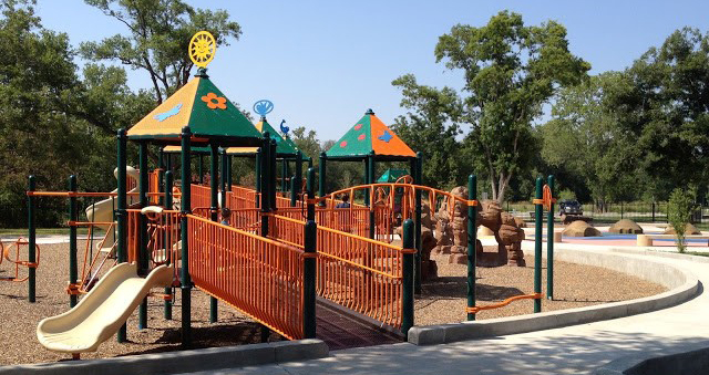 Large multi-colored playscape.