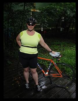 image of librarian with bike