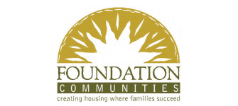 "Foundation Communities Logo ""creating housing where families succeed"""