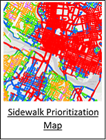 Sidewalk Prioritization Map
