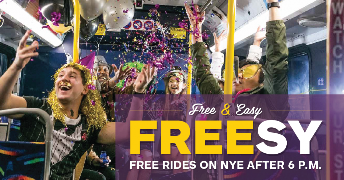Capital Metro offers free rides on New Years Eve.