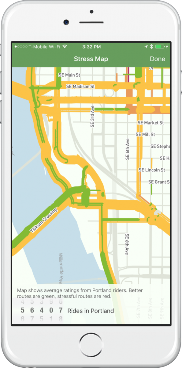 Screen Shot Of Ride Report Smartphone App