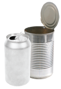 image of aluminum and tin cans
