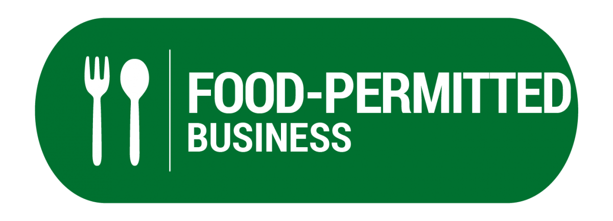 Green button: click if you own or manage a food-permitted business.