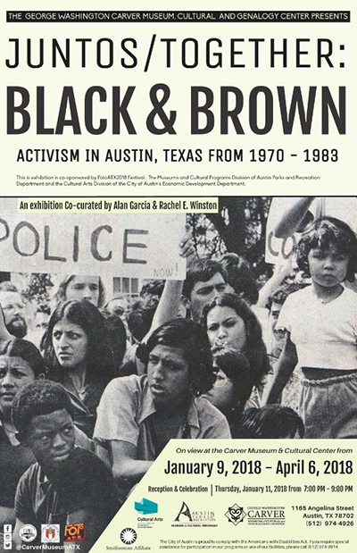 The Juntos/Together: Black and Brown Activism in Austin poster.