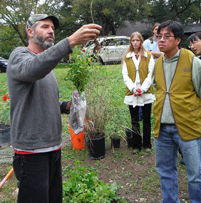 Volunteers learned about plant parts, species and proper planting techniques.