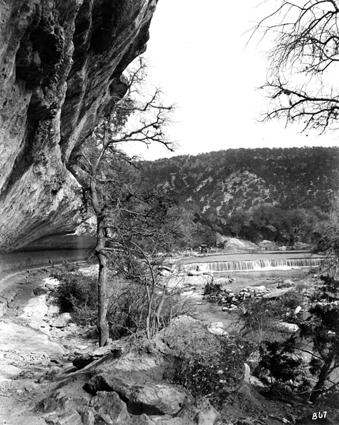 Historic Bull Creek. An undated black and white image of Bull Creek.