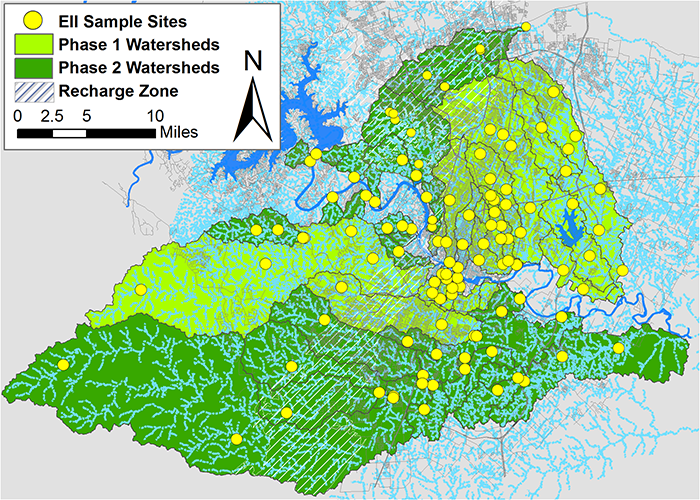Over 120 sites from 49 watersheds are sampled on a two-year rotating basis