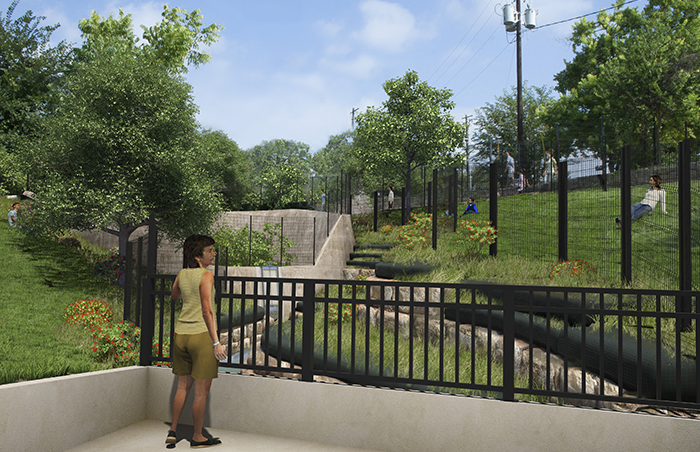 Photo simulation showing how the area will look after the restoration is complete.