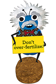 Don't over-fertilize.  Visit www.growgreen.org for more information