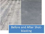 Before and after shot blasting.