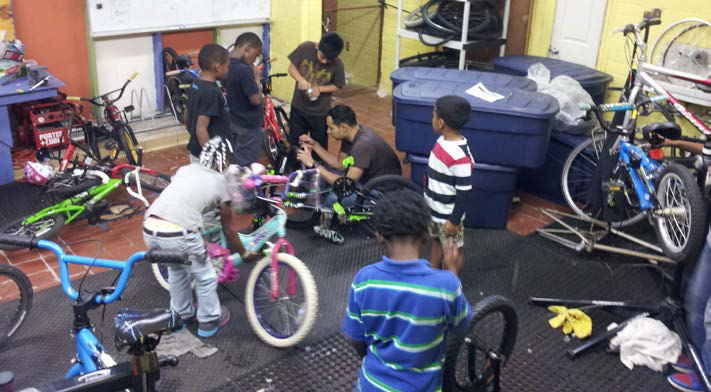 Bike Repair Shops will provide students at Langford Elementary and Maplewood Elementary Schools with materials and training to perform basic bicycle maintenance.