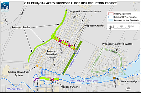 Map showing proposals for Oak Park / Oak Acres