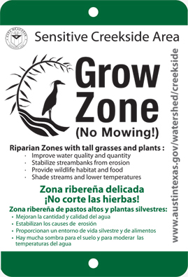 Grow Zone sign.