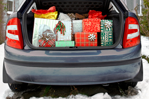 car trunk full of gifts image