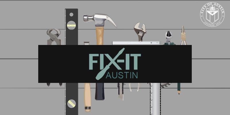 Fix-it Austin logo with tools