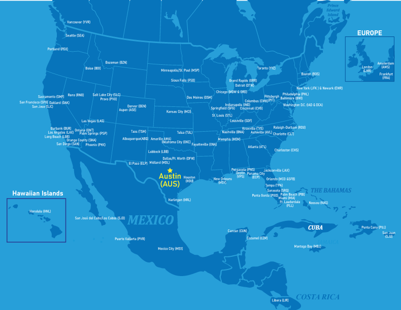 City Of Dallas Careers >> Nonstop Flights Out of Austin | Austin-Bergstrom ...