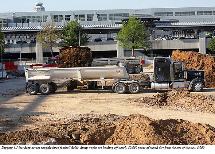 752edc594211 Demolition of Lot A marks construction start of new parking garage ...