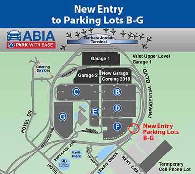 New parking lot entry map