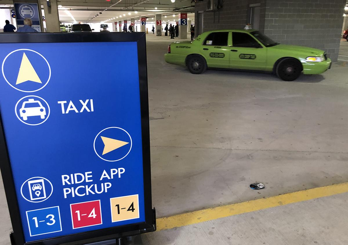 Car Service App: Pick-Up Location For Taxis, Ride App Cars Moves To Rental
