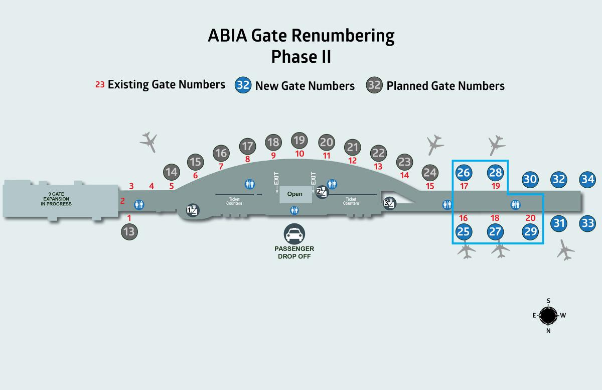 Construction Updates Abia Master Plan Of An And Gate All That Needs To Be Added Is Another Stage Phase Ii Renumbering Completed As Gates 16 20 Change 25 29 The Second