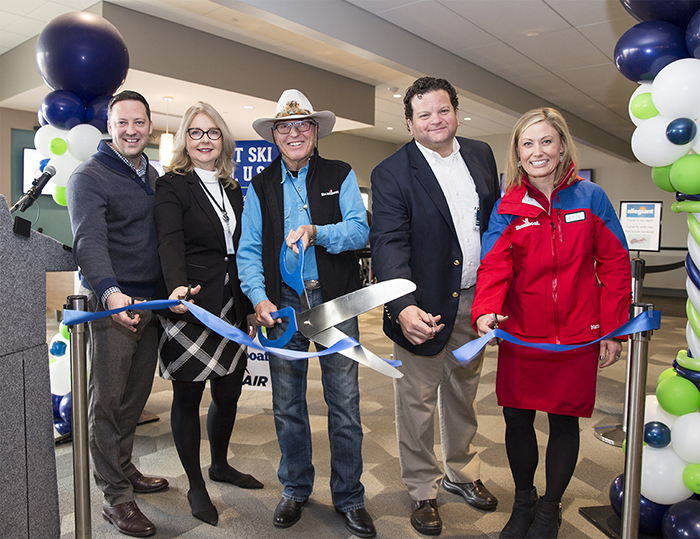 Via Air ribbon cutting new nonstop from Austin, Texas to Steamboat Springs, Colorado