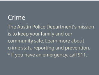 The Austin Police Department's mission is to keep your family and our community safe. Learn more about crime stats, reporting and prevention. If this is an emergency, call 911.