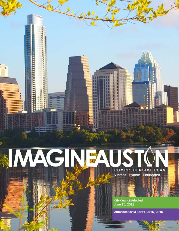 image: cover of the Imagine Austin Comprehensive Plan