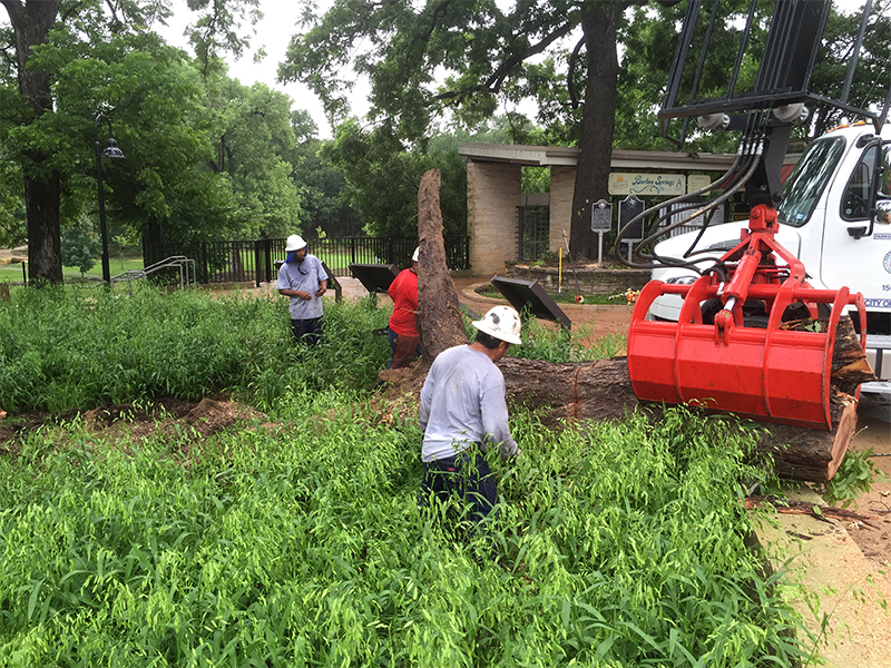 Memorial Day Flood cleanup at Barton Springs Pool