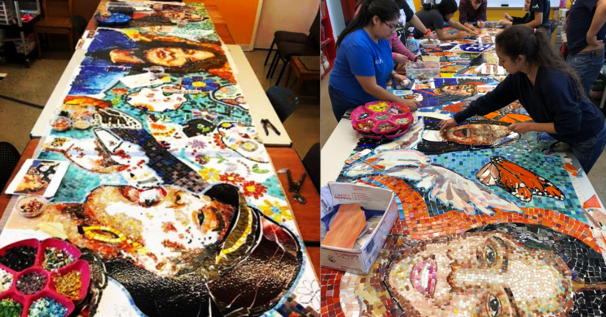 Mosaic Mural by Caminos Students