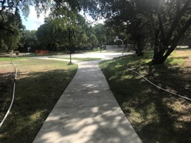 Little Stacy Park sidewalks and site lighting
