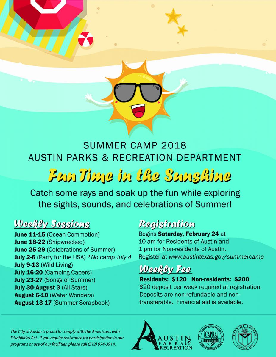 Summer Camps Austin Parks And Recreation Austintexas