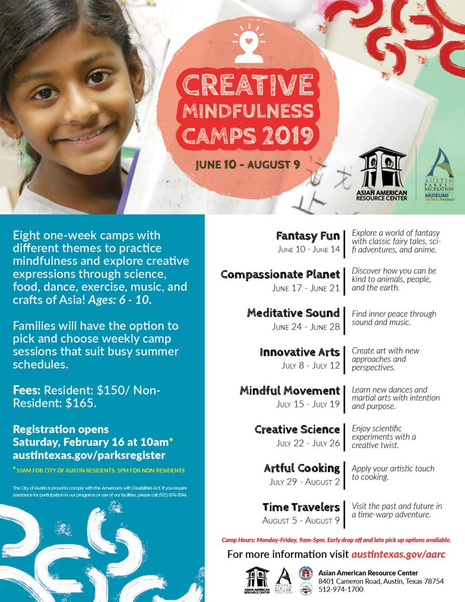 Asian American Resource Center Summer Camp Brochure