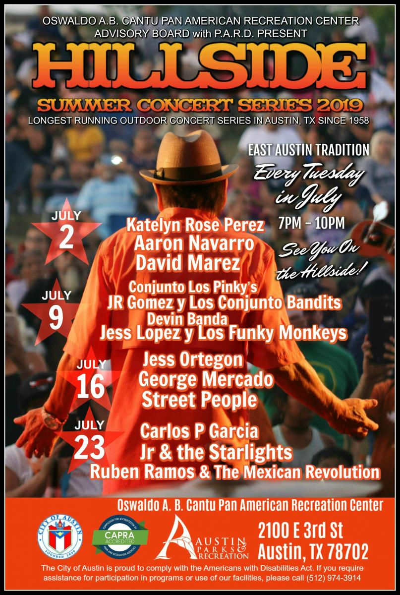 Hillside Summer Concert Series flyer