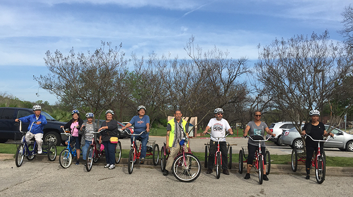 "50+ Adult Trike Program ""Golden Rollers"" at the Conley Guerrero Senior Activity Center"