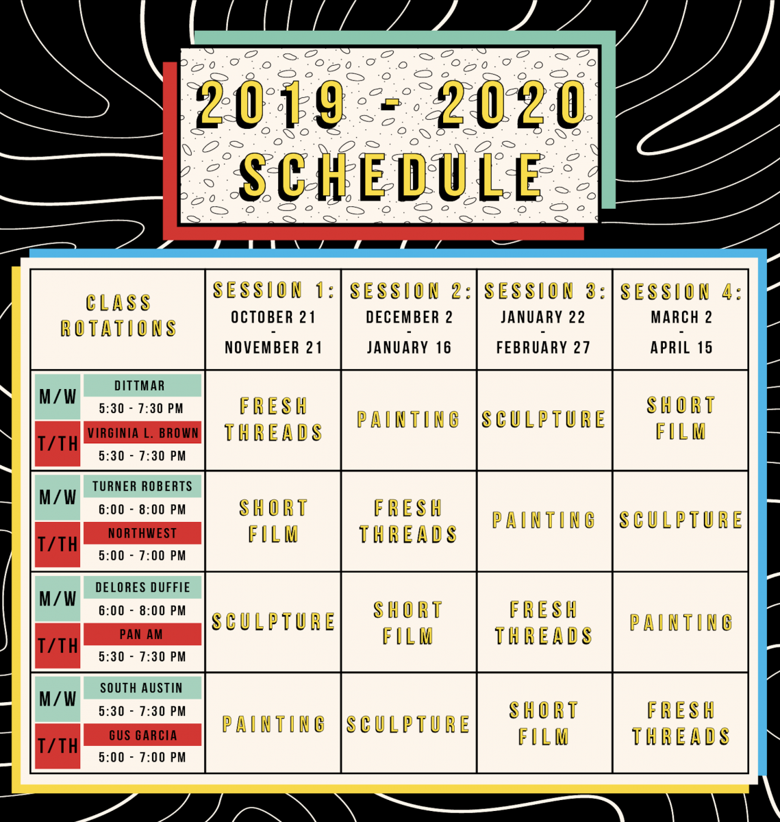 Totally Cool Totally Art 2019-2020 Schedule