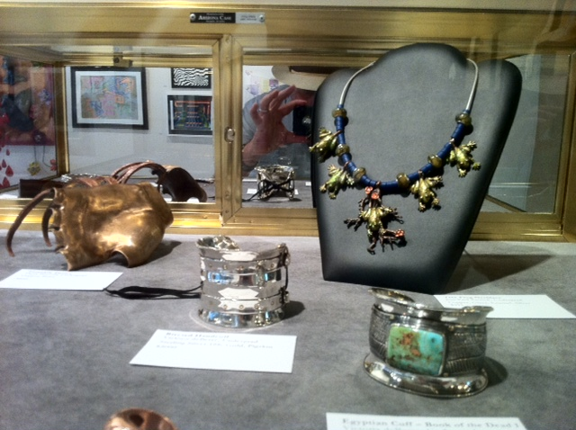 Jewerly Art from ACC student art exhibit Julia C. Butridge gallery