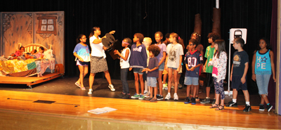 Photo of stage at Broadway Bound sumomer camp at the Carver museum