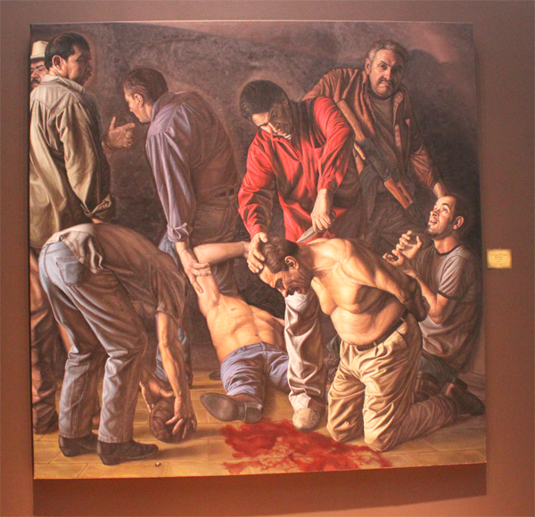 "Photo of the painting ""Beheading"" 7'x 7'"