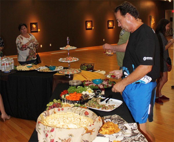 The staff at the ESB-MACC organize opening night receptions, which are of course free and open to the public.