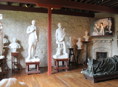 Ney studio with sculptures of Stephen Austin and Sam Houston