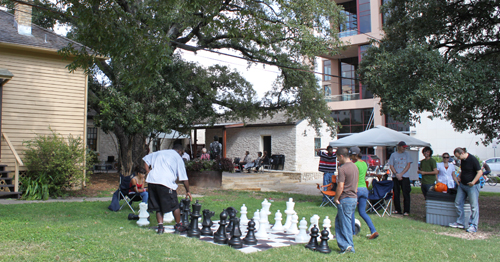Lawn game of Giant Chess pieces