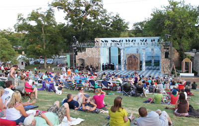 audience at Zilker Hillside Theater