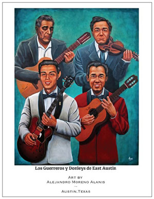 painting of Tejano icons