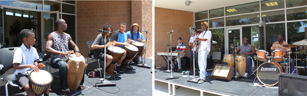 two bands play at 2012 juneteenth