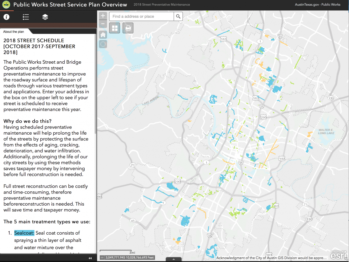 image of interactive service plan map