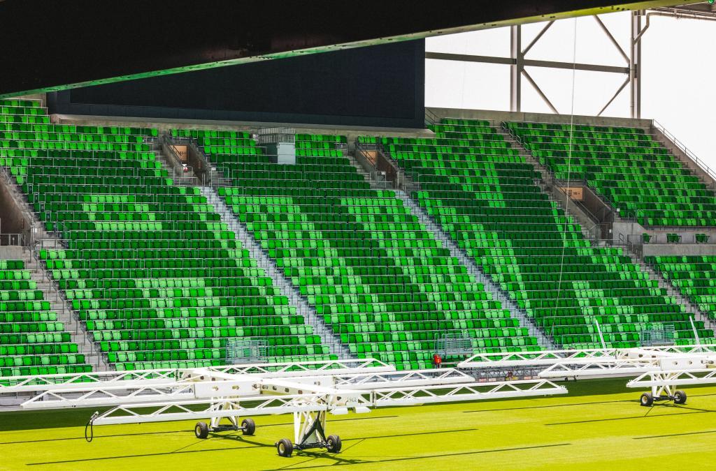 ATX spelled in seats at Q2 Stadium